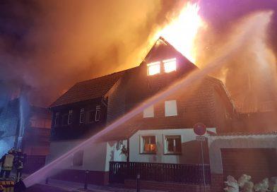 Großeinsatz Wohnhausbrand Heegheim