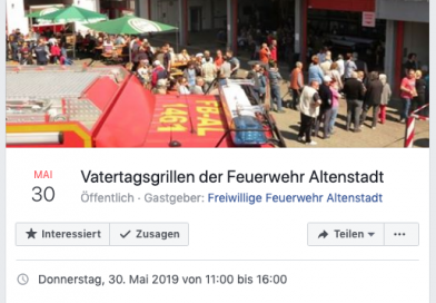 Einladung zum Vatertagsgrillen der Feuerwehr Altenstadt